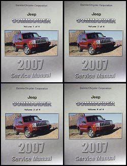 vehicle repair manual 2007 jeep commander parking system 2007 jeep commander repair shop manual original 4 vol set