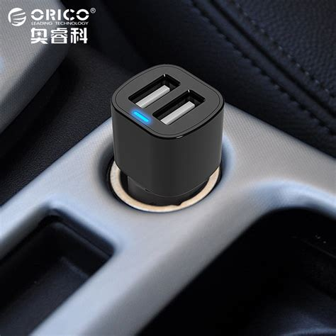 Orico Dual Usb Car Charger 2 4a For Smartphone Ucl 2u orico 3 4a dual port usb car charger mini universal fast smart car charger for apple iphone 7 lg