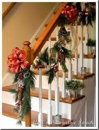 christmas decorating for banisters ideas christmas