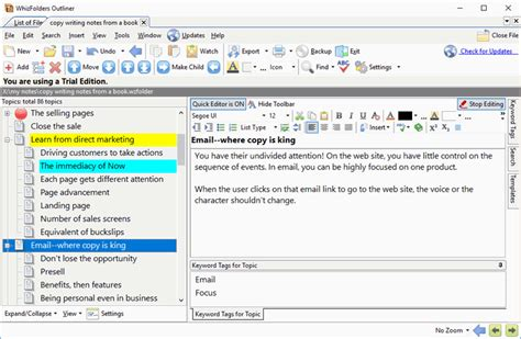Image Outliner Software by Whizfolders Outliner 7 1 5 Free Build Useful Outlines Of Your Notes For Effective