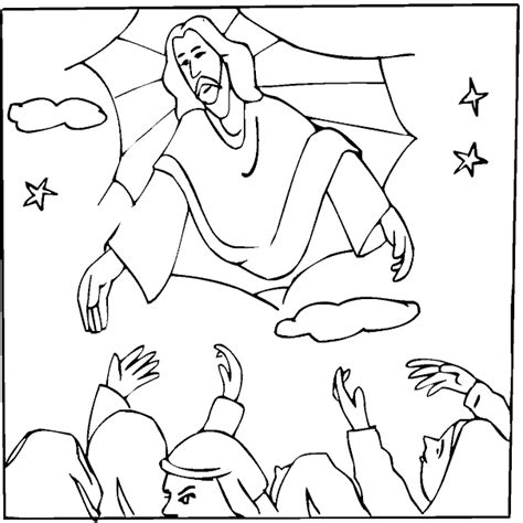 bible coloring pages jesus ascension the ascension of jesus