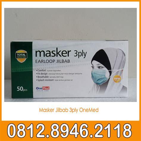 Masker 3ply Earloop Onemed Masker Jilbab 3ply Onemed