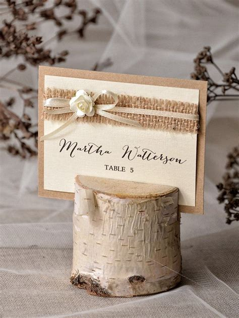 1000 ideas about place card holders on pinterest favors rustic place card holder with place card birch wedding