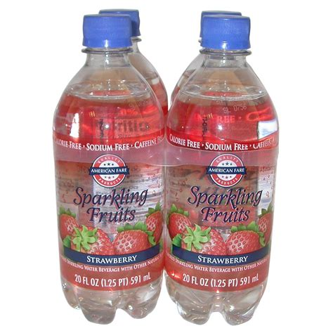 fruit 20 sparkling water american fare sparkling fruits water strawberry 20 fluid