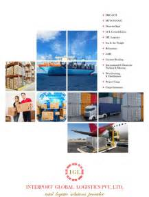 interport global logistics container tracking brochure interport global logistics pvt ltd
