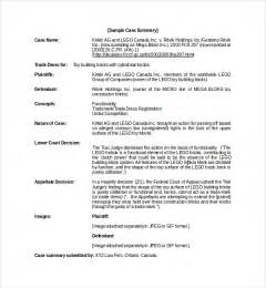 sample case summary template 9 free documents download