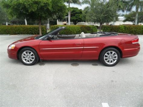 2004 chrysler convertible sell used 2004 chrysler sebring convertible limited no