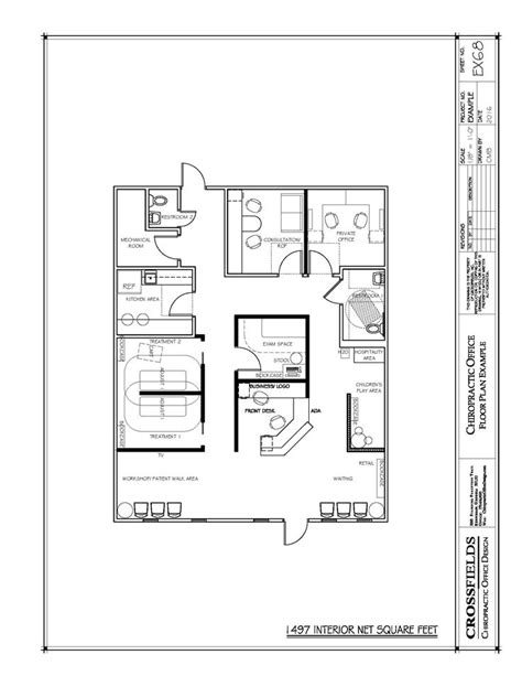 chiropractic office floor plan sle plan with large children s play area chiropractic