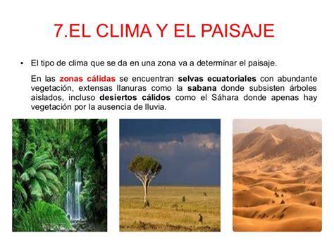 imagenes de paisajes de zonas climaticas el clima