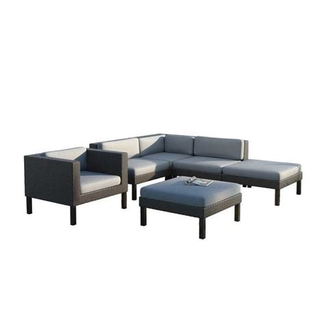 6 chair patio set 6 pc sectional chaise lounge chair patio set ppo 803 z