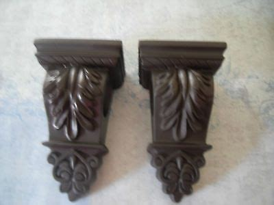 Drapery Sconce Pair Of Decorative Curtain Rod Sconce Holders Shabby
