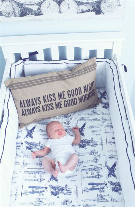 Vintage Airplane Crib Bedding Decorating With Airplanes Non Gifts
