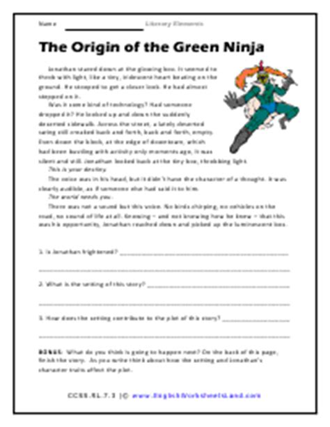 Elements Of Literature Worksheets by Pictures Literary Elements Worksheet Getadating
