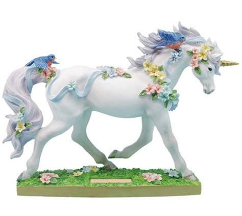 stunning large painted ceramic unicorn home decor by decorative figurines for home unicorn figurines beautiful