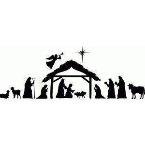 The 25 Best Nativity Scenes Ideas On Pinterest Christmas Nativity Christmas Nativity Scene Nativity Silhouette Template