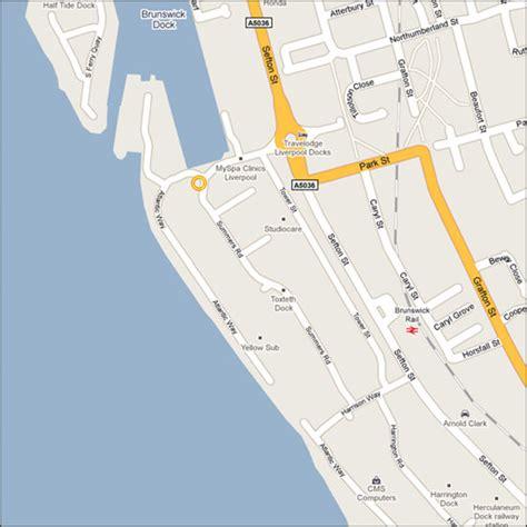 brunswick dock liverpool postcode  dock