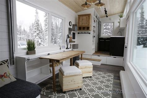 the rustic modern tiny house tiny living quot open concept rustic modern quot diy tiny house by ana white