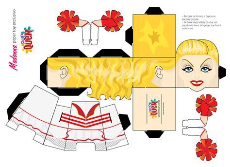 Paper Toys - para baixar monte um paper exclusivo da madonna de