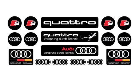 Audi Aufkleber by Audi Domed Sticker Set
