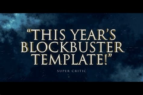 Cinematic Movie Titles After Effects Template Filtergrade Cinematic Title After Effects Template
