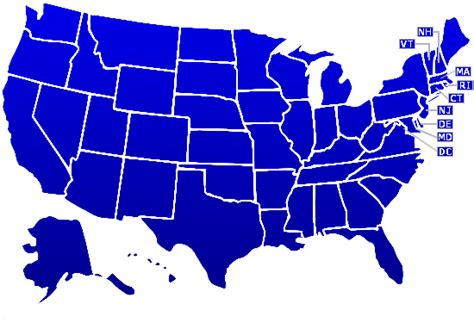 map of united states showing individual states usa outline clipart clipart best