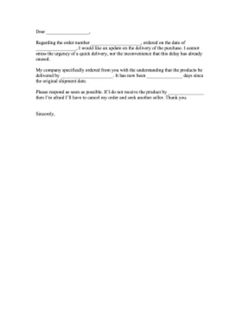 Complaint Letter For Wrong Product Delivery Delay Delivery Complaint Letter