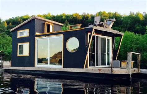 tiny boat house tiny house boat very tiny but it has everything newsstandard