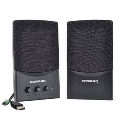 Speaker Laptop Compaq hp compaq 5188 8941 2 usb multimedia speaker set black computers accessories