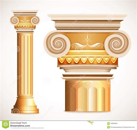 Marble Temple Home Decoration by Gold Greece Column Vector Stock Vector Image Of Marble