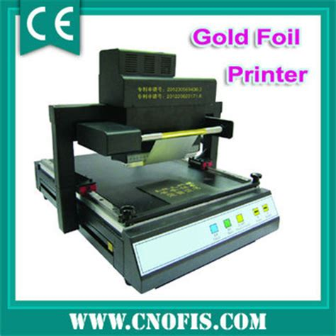 Gold Foil Print by Gold Foil Printer Automatic Foil Printing Machine Buy
