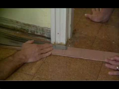 How To Cut Laminate Flooring Around Doors by Cutting A Door Jamb To Install Flooring
