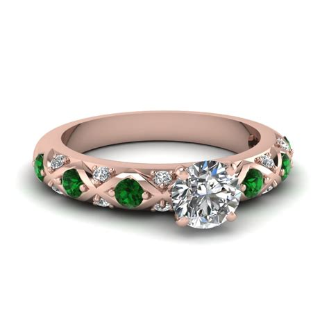 cut cross band side engagement ring