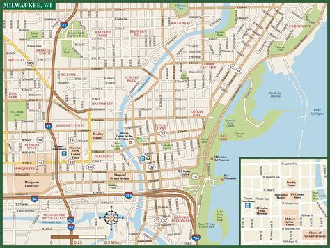 maps milwaukee milwaukee downtown map digital vector creative