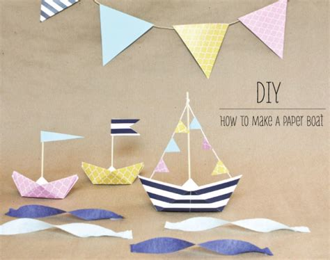 how to make a boat diy how to make a paper boat my daily magazine art design