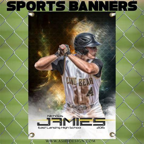 Amped Sports Banner 24x36 Winning Streak Baseball Softball Vinyls Vinyl Banners And Sports Senior Sports Banners Templates