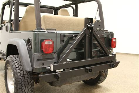 Jeep Wrangler Tire Carrier Rock 4x4 Patriot Series Rear Bumper With Tire Carrier