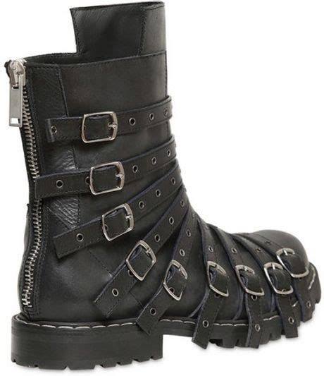 gareth pugh mens boots gareth pugh perforated multi leather low boots in