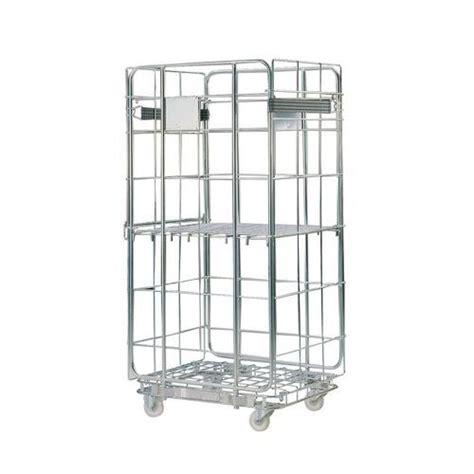portata container roll container base in acciaio portata 500 kg