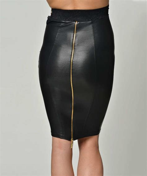 black faux leather pencil skirt sale cocogio sale