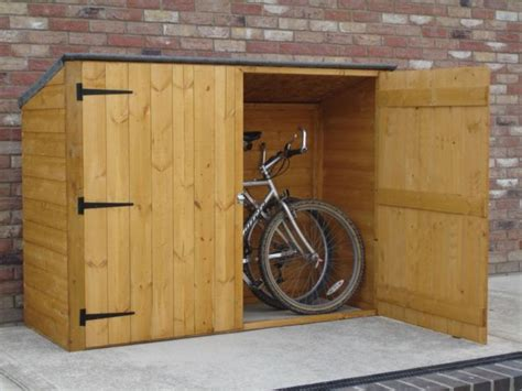 diy backyard bike shed garden