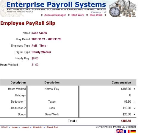 pin payroll slip template on pinterest