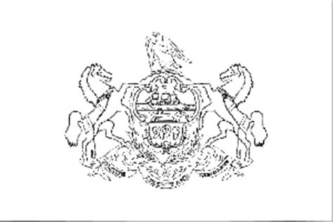 pennsylvania state flag coloring page