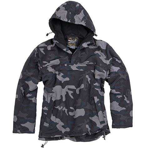 Camouflage Hooded Jacket surplus windbreaker tactical mens jacket