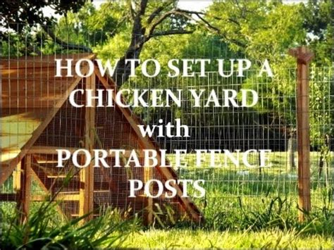 movable chicken fence 2 how to set up a chicken yard with portable fence posts