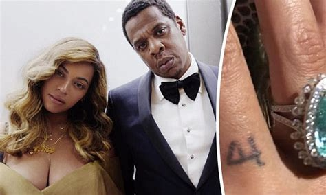 Beyonce And Z Ink The Knot by Beyonce Inks The Matching Iv Wedding She Got