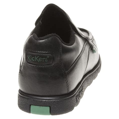 Kickers Slip On Leather new mens kickers black fragma slip on leather shoes
