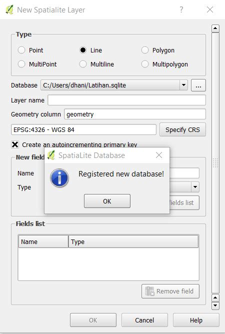 qgis spatialite tutorial qgis tutorial how to create new spatialite layer on qgis