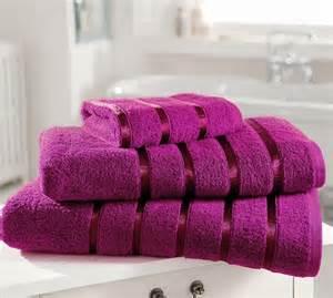 magenta bath towels towels satin stripe 100 cotton top quality