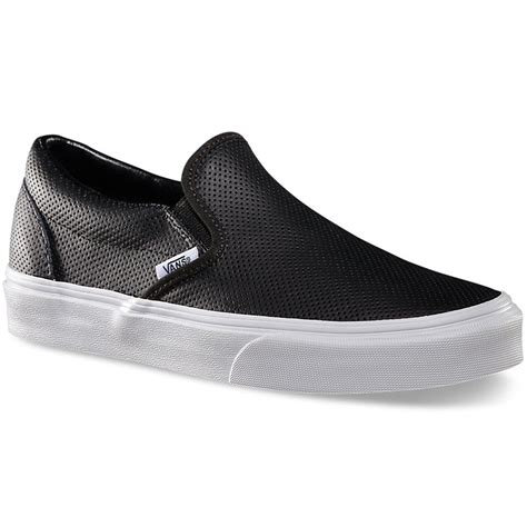 vans slip on shoes vans perf leather slip on shoes