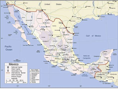 map of the mexico zacatecas mexico map